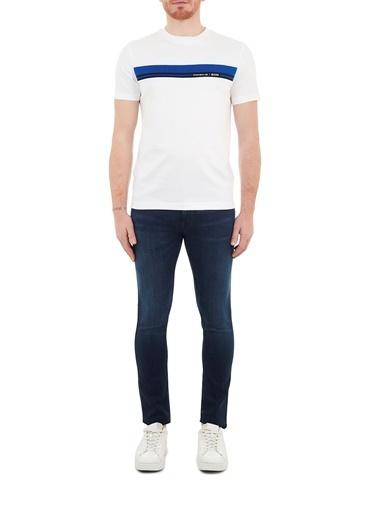 Hugo Boss  Extra Slim Fit Pamuklu Jeans Erkek Kot Pantolon 50446978 408 Lacivert